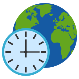 Preview of System icon, world clock, Clock, time, date folder icon