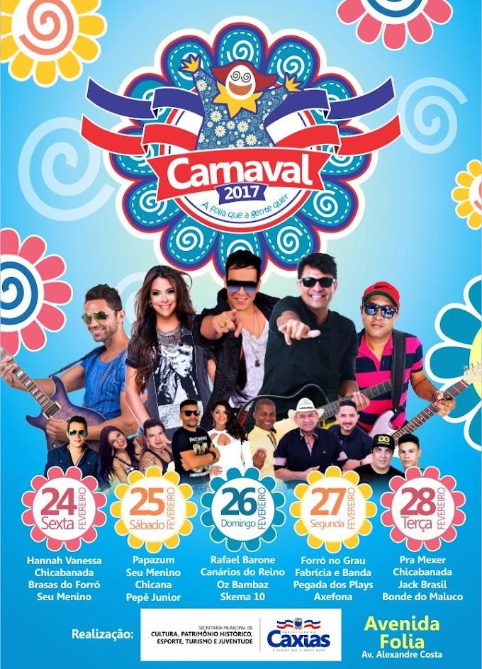 Prefeitura de Caxias lança banner oficial com atrações do Carnaval 2017