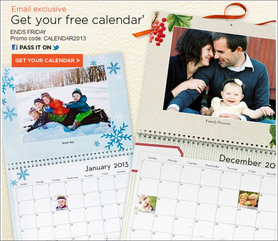 Shutterfly 10 Free Cards Last Day For Free Calendar Utah Deal Diva