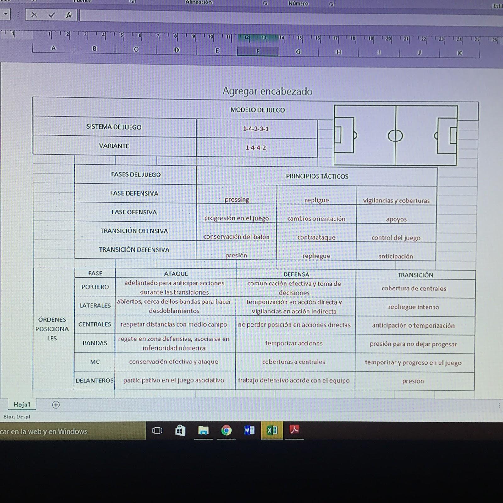 F...de Fútbol- Xesco: Cuaderno del entrenador: Plantilla Modelo de juego