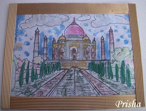 Cards ,Crafts ,Kids Projects: Taj Mahal Painting