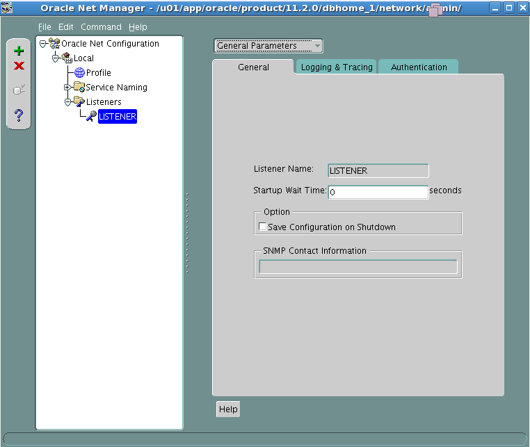 Register service name with Oracle listener