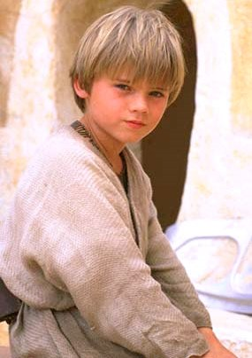 Foto de Anakin Skywalker de Star Wars de pequeño