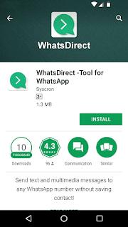 WhatsDirect - Play Store