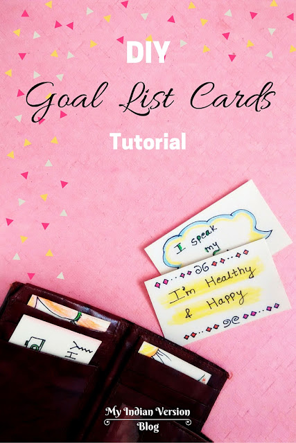 Diy goal list cards to stay focused