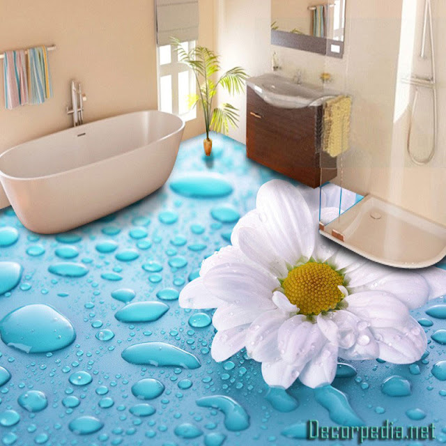 3D bathroom floor and self-leveling floor mural, 3d floors for bathroom