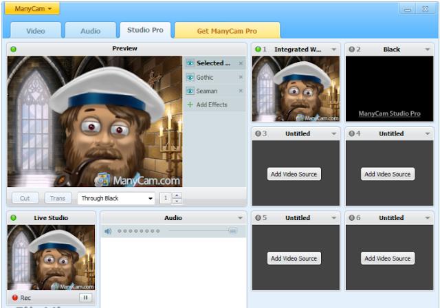 تحميل برنامج تشغيل الكاميرا على اكثر من برنامج ManyCam Free