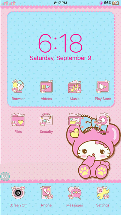Oppo F3 Melody Blue Pink Theme