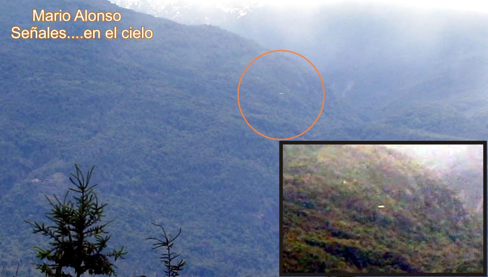 Captan objeto lenticular desplazandose sobre los cerros de El Bolsón