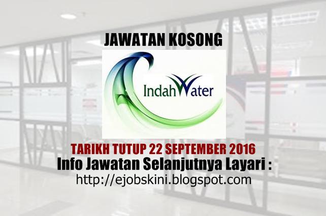 jawatan kosong indah water konsortium sdn bhd september 2016