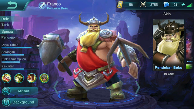 Hero Franco ( Pendekar Beku ) AP Tanker Build/ Set up Gear