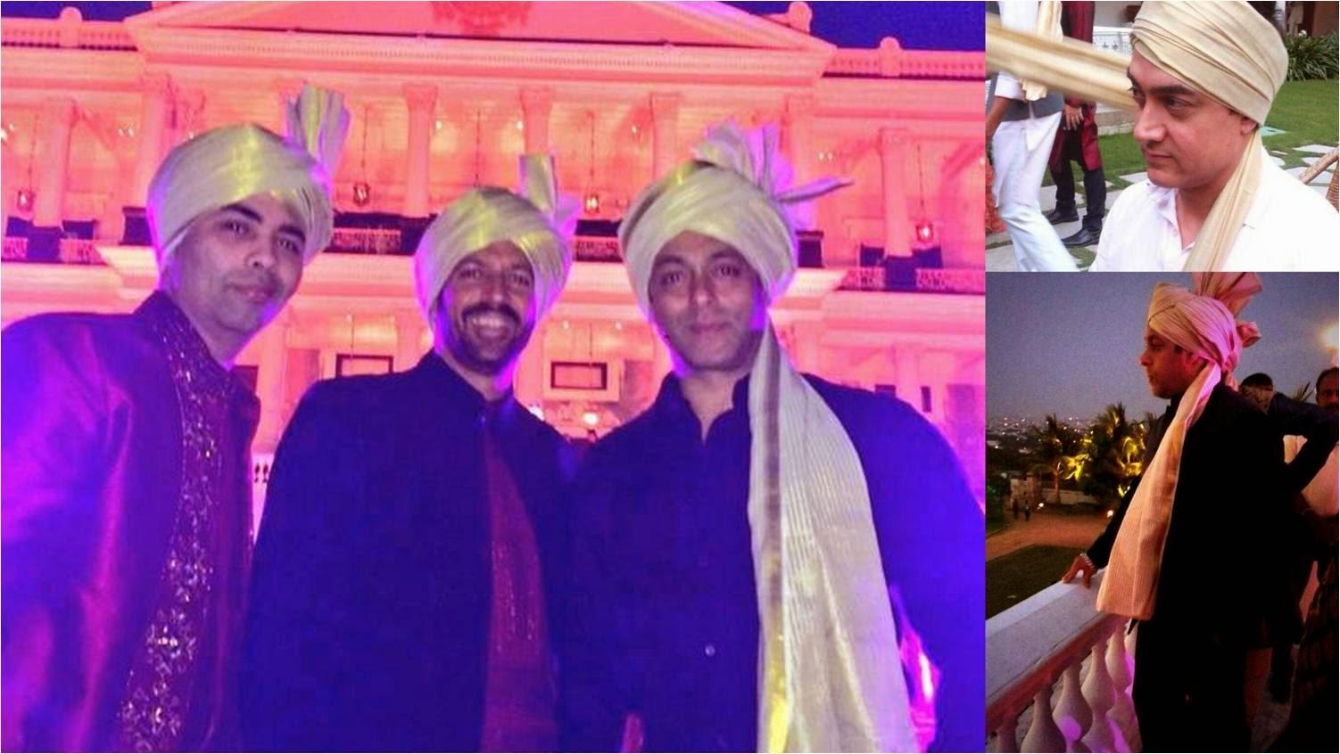 Karan, Salman and Aamir in safa