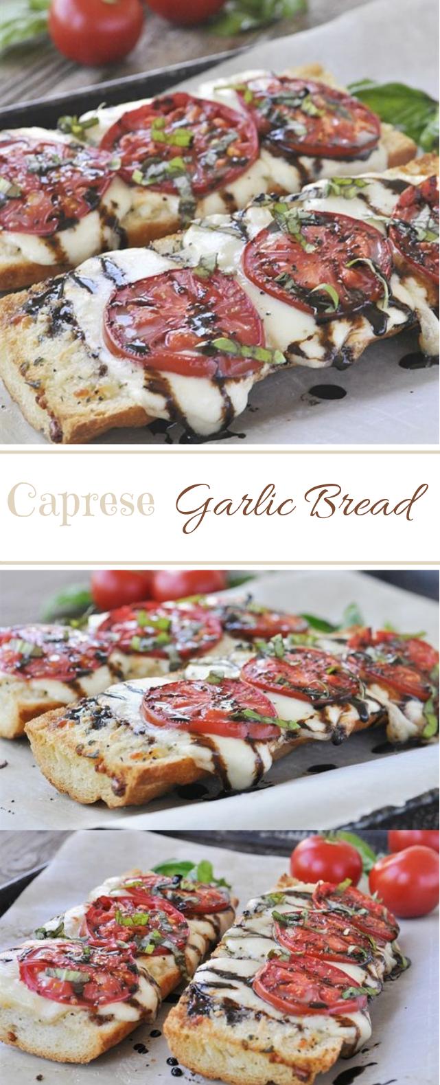 Caprese Garlic Bread #vegan #vegetarian