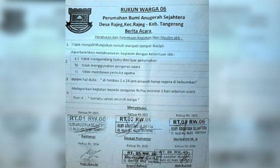 Peraturan RW di Tangerang Ini Mendadak Viral Dan Jadi Kontroversi