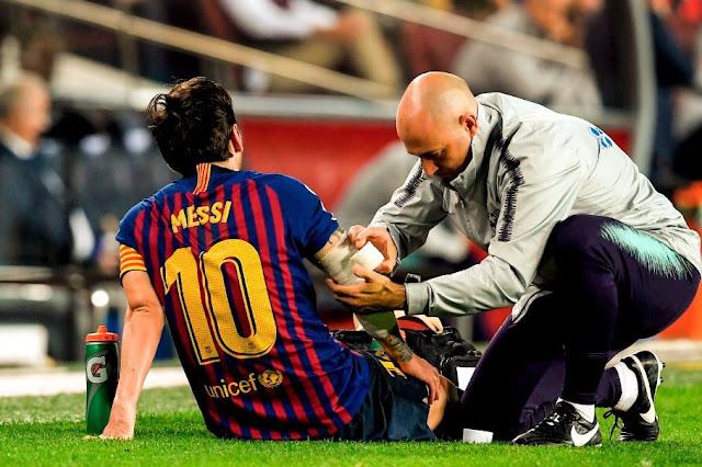 برشلونة يحدد مدة غياب ميسي