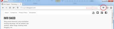 Cara bookmark halaman web favorit di firefox, google chrome dan opera mini