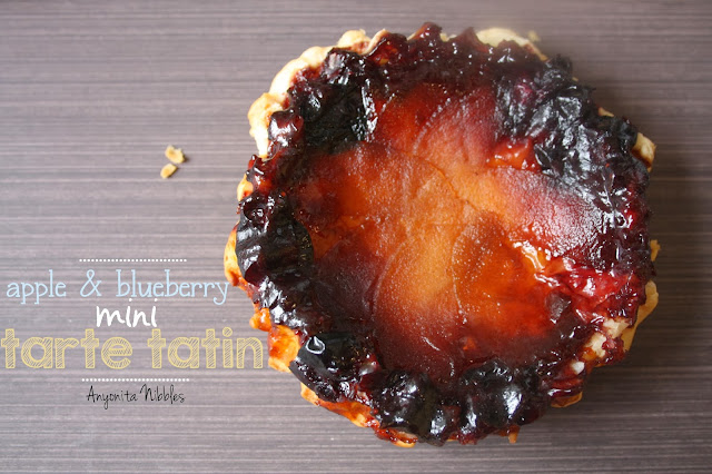 Apple & Blueberry Mini Tarte Tatin from Anyonita Nibbles