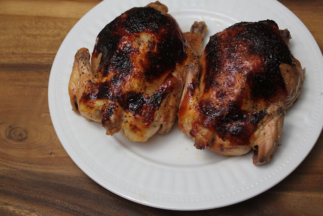 Impress your guests this holiday season with an easy and tasty Orange Glazed Cornish hen recipe!