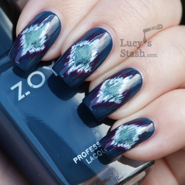 Lucy's Stash - Nail art with Zoya Natty, Bevin, Monica and OPI Alpine Snow