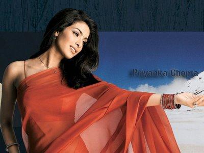 Priyanka Chopra in red saree, Priyanka Chopra in saree, Priyanka Chopra hot in saree