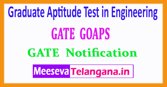 GATE Graduate Aptitude Test in Engineering 2018 Notification Login Registration Exam Dates Syllabus Pattern