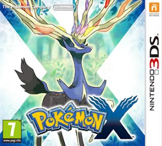 Pokemon X 3DS, español, mega
