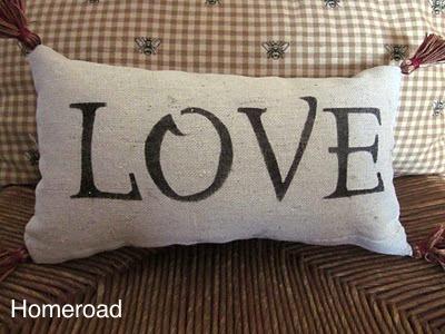 Make Your Own LOVE Lumbar Pillow