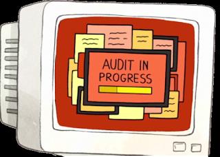 Audit in Progress Menyimpan Manual Bukti Audit