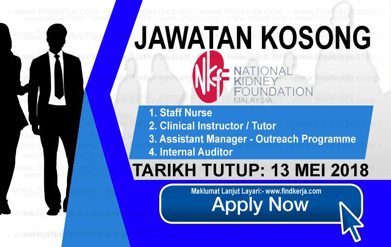 Jawatan Kerja Kosong NKF - Yayasan Buah Pinggang Kebangsaan Malaysia logo www.findkerja.com mei 2018
