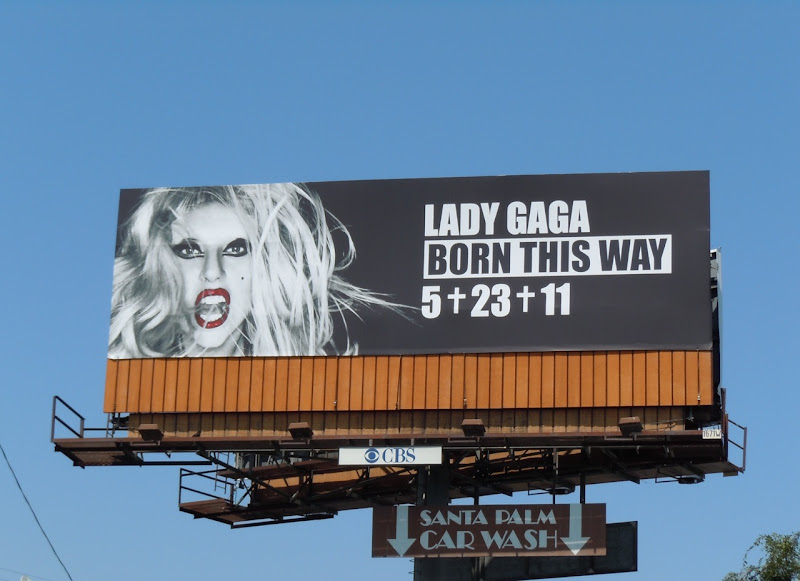 Lady Gaga Born This Way billboard