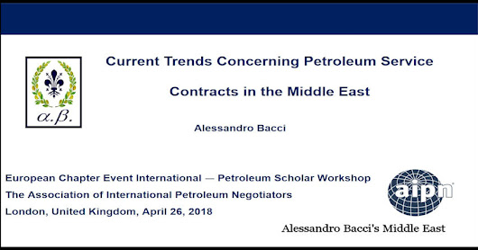 Current Trends Concerning Petroleum Service Contracts in the Middle East