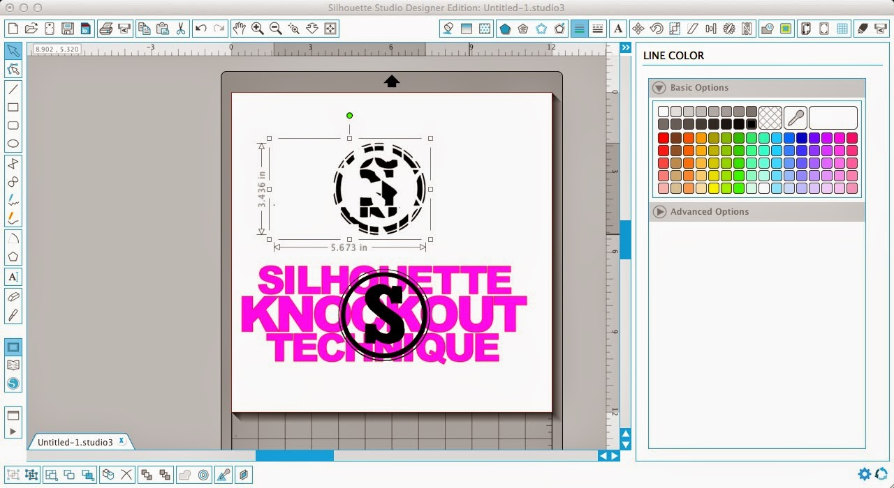 Silhouette tutorial, knockout technique, knockout, Silhouette Studio, group