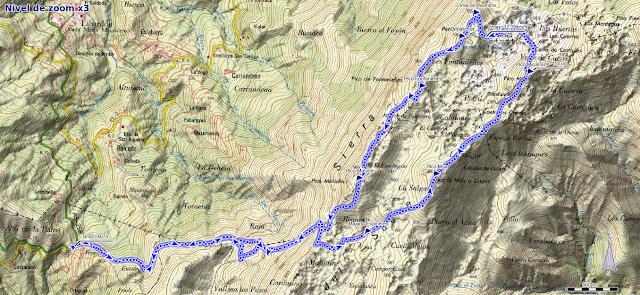 Mapa ruta Alto Llama, Mirueñu