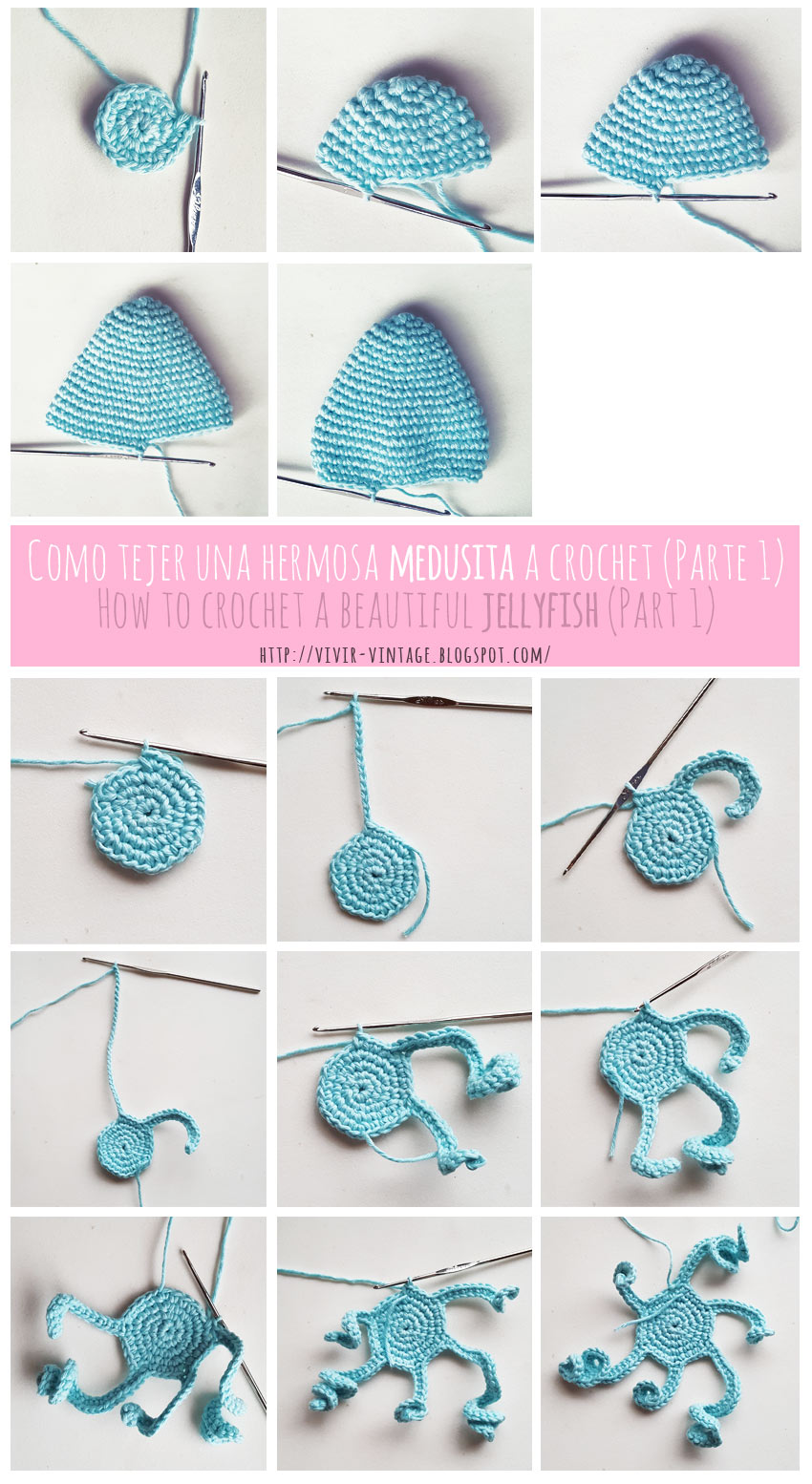 amigurumi jellyfish step by step