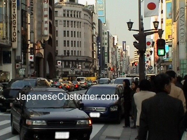 Ginza Tokyo on a Public Holiday Copyright Peter Hanami 2014