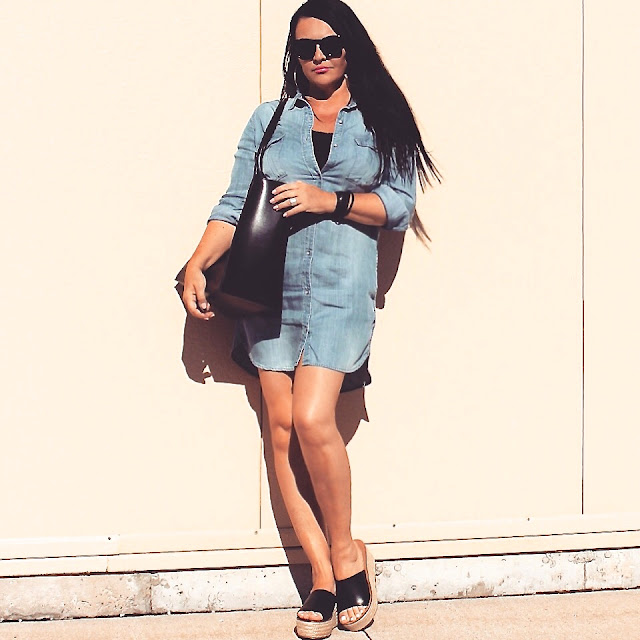 DENIM DRESS, JEANS, ZARA, ZARA SHOES, ZARA BAG, SUMMER OUTFIT, FASHION BLOGGER