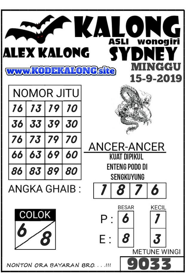 dewa-nalo Code Syair Sydney