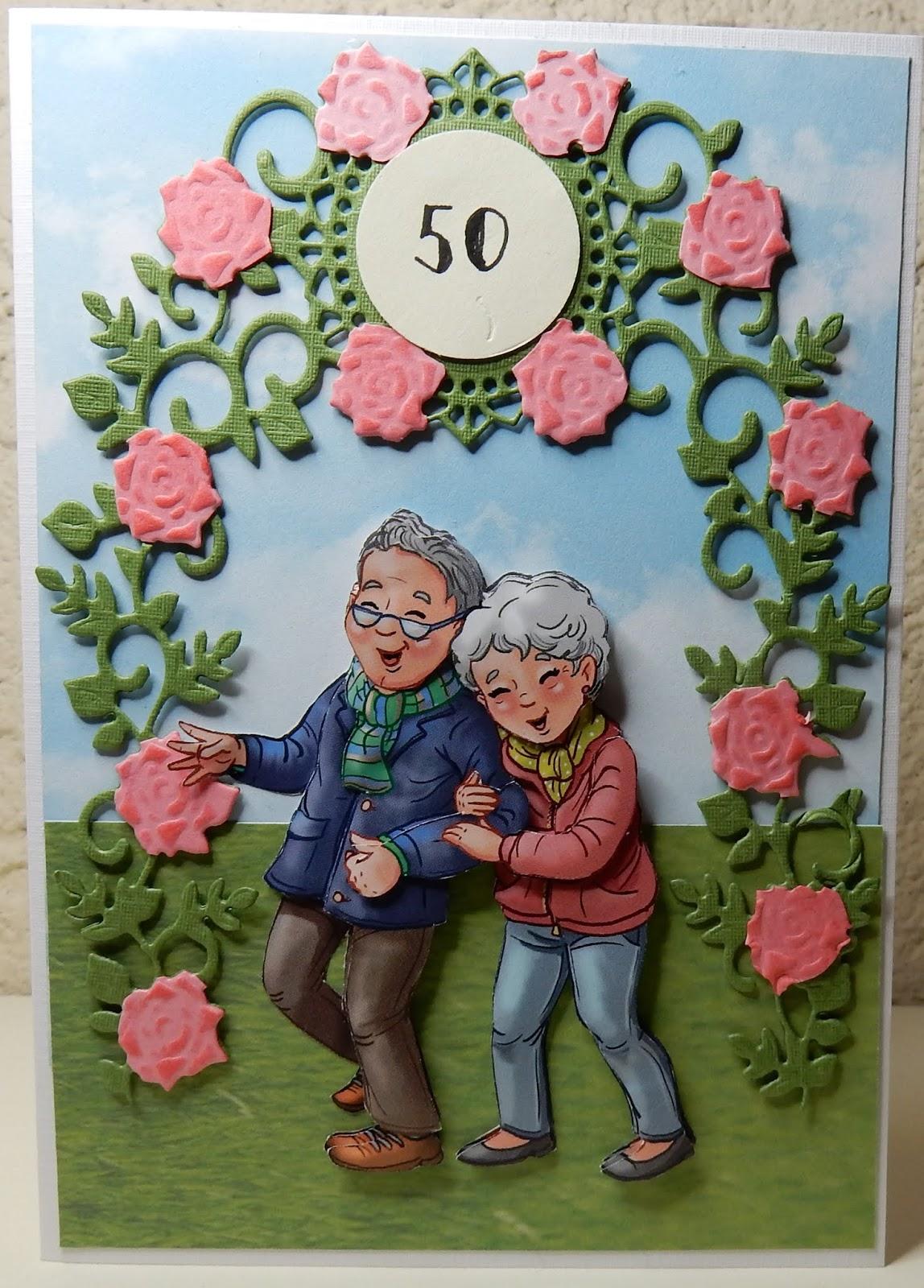 Uitzonderlijk Hetty's Knutselhokkie!: Yvonne Creations Funky Nanna & Grandpa @YN39