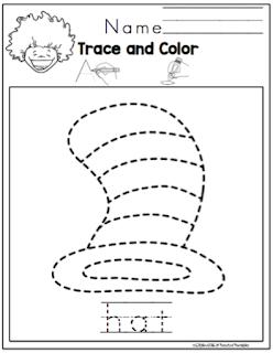 Read Across America Tracing ~ Preschool Printables