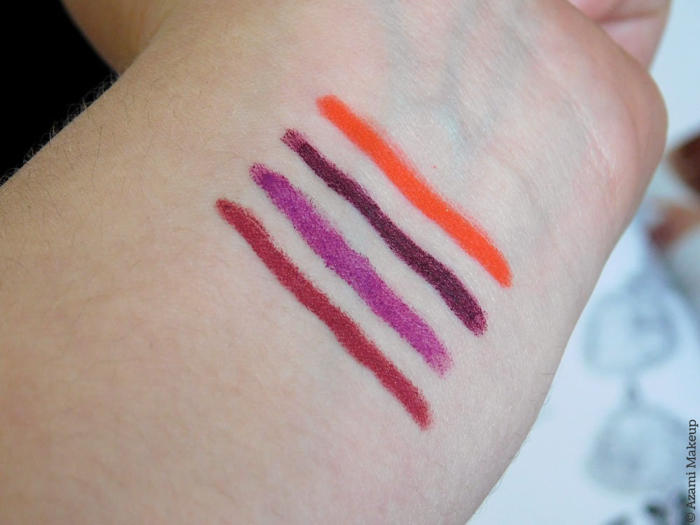 Kiko Milano Smart Fusion Lip Pencils 513 518 525 528 - Review & Swatches