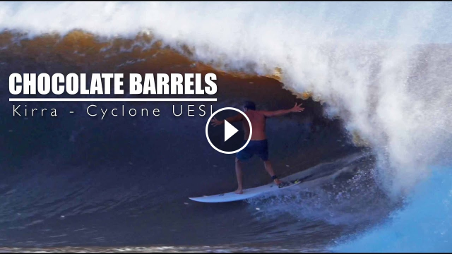 Cyclone Uesi - Chocolate Barrels in Kirra