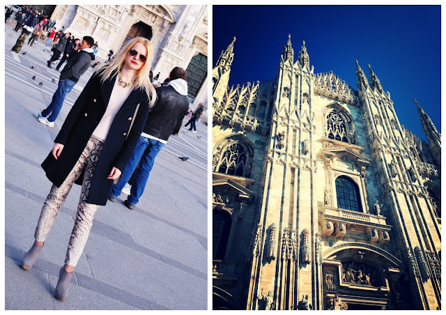 Irina Pavlova russian fashion blogger in Milan