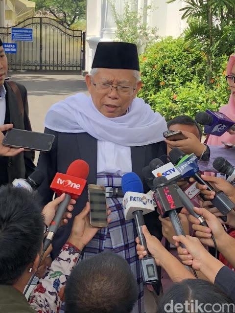 KH Maruf Amin: Saya Mendoakan Presiden Jokowi Tetap Tegar, Bekerja, Membangun dan Optimis