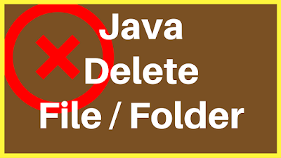 java remove directory