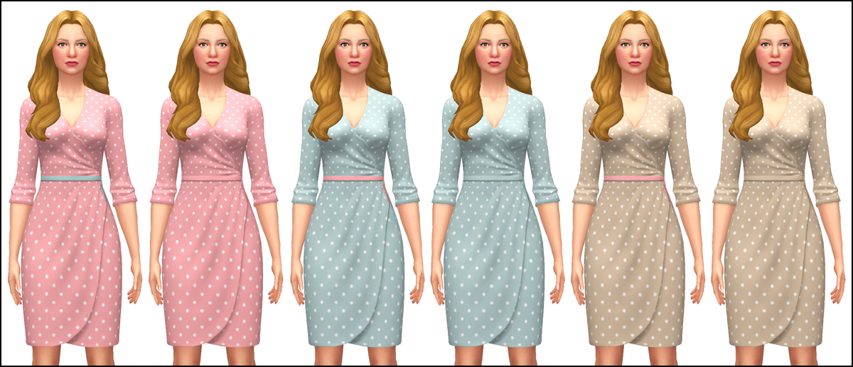 3d8e72b4d80 My Sims 4 Blog: Wrap Dress by Martine