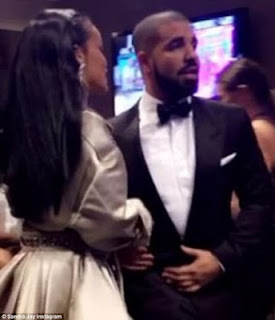 Drunk in love Drake trips and falls on Rihanna's dress as they headed backstage at VMA