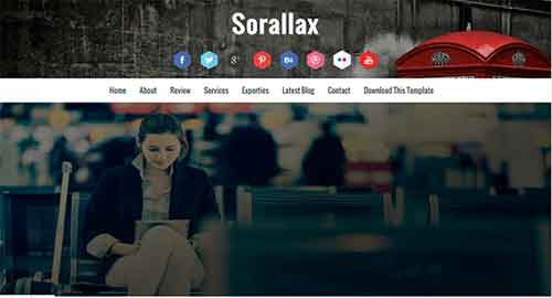 Sorallax Blogger Template