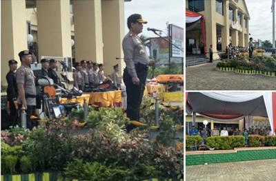 Hadapi Pilgub Lampung, Kapolda Pimpin Upacara Gelar Pasukan Gabungan Operasi Mantap Praja 2018