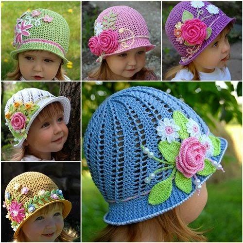 4f856e605d404 Maravillosos sombreritos para las princesitas! La confección puedes verla  en el paso a paso y las flores son a elección