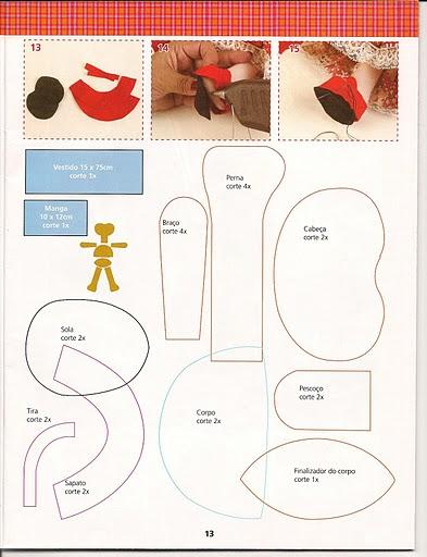 Revista+feltro+compartilhar+009 - molde boneca de feltro